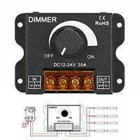 DC12v/24v 30a led switch dimmer controller for led strip single color black/AU
