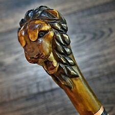 Wooden Lion Head Canes Walking Sticks For Men For Sale Ebay