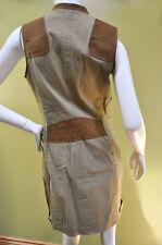 Ralph Lauren Womens Blue Label women's leather cotton equestrian dress sz 14