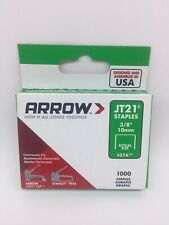 "Arrow Jt21 & Jt27 Tr45 3/8"" 10mm Staples # 276 1000 Staples"