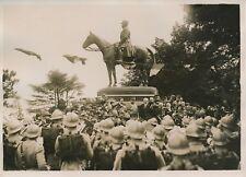 CASSEL c. 1930 -Inauguration Statue Équestre Maréchal Foch Soldats Nord- PRM 388