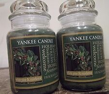 Yankee Candle White Pine & Mistletoe  22 oz  Lot of 2  NEW Winter Free Shipping