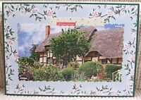 Luxury Handmade Personalised Large A4 BIRTHDAY CARD Thatched Cottage & Garden