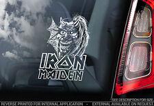 Iron Maiden - Car Window Sticker - Purgatory - Eddie Skull Heavy Metal Sign TYP3