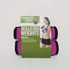 Danskin Set of One Pound Hand Weights Dumbells For Walking Pink