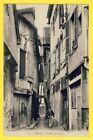 cpa 10 - TROYES (Aube) La Rue des CHATS Animé au fond Rue CHARBONNET