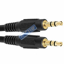 1 metre BLACK 3.5mm AUX Stereo Jack to Jack 3.5 mm Cable 1m BUDGET AUDIO LEAD