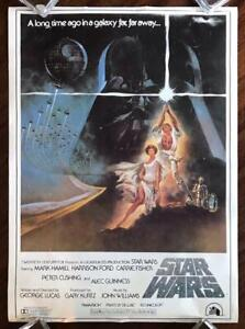 STAR WARS 1977 Sci Fi Action Cult Luke Skywalker ORIGINAL VIDEO POSTER Rolled