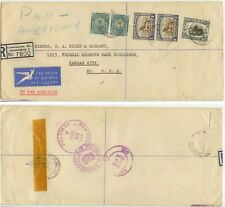 1950 Johannesburg South Africa Registered cover to Missouri Pan American flight