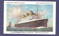 TSS Statendam - Vintage Color Postcard - Holland America Line
