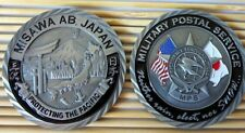 challenge coin  Air Force Japan MILITARY POSTAL SERVICE USPS  Misawa AB