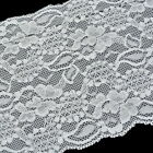 "5 Yards White Stretch Lace Edge Trim 5-7/8"" wide"