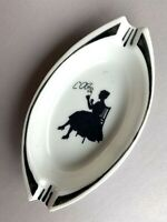 Antique personal porcelain ashtray French ? German ? Marked SCH 340 Collectible