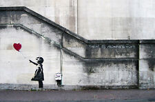 Banksy There Is Always Hope, Balloon Girl 8X12 canvas print  reproduction