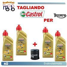 TAGLIANDO FILTRO OLIO + 4LT CASTROL POWER1 10W40 TRIUMPH BONNEVILLE 865 2009