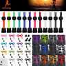 2x Elastic No-Tie Locking Shoelaces Shoe Laces With Buckles For Sport Shoes~