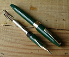 Green Sheaffer Snorkel PFM III fountain pen c.1959-68 white dot