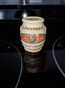 Vintage 1953 Otto Frenzel Lowensenf Mustard Pot Dusseldorf Lion's Brand Germany