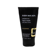 Every Man Jack Volcanic Clay Face Wash, Oil Defense, Fragrance Free,5-ounce, New