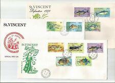 St. Vincent Fish FDCs x 3, cv = £13