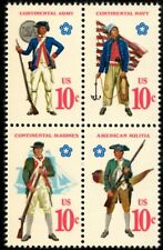 Military Uniforms - Scott #1565-1568 Block of 4 Stamps MNH