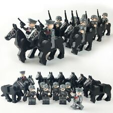 8 pcs German Army WW2 Military Horse Soldier Weapon SWAT Fit Lego Special Force