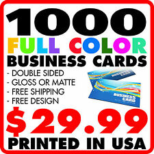 Business card printing services ebay 1000 custom full color business cards free design free shipping reheart Choice Image