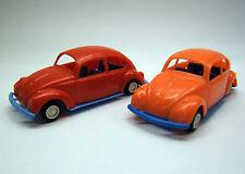 2x VW Käfer, Volkswagen, Maggiolino, 1:36, CGGC, Made in Italy, 1960er, selten.