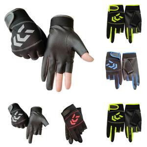 Men Fishing Fingerless Gloves Warm Hands Protection Non-Slip SBR Gloves  Outdoor