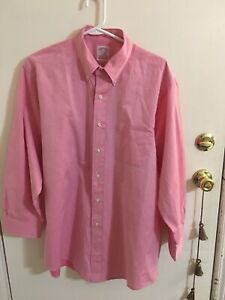 Brooks Brothers Men's  Long Sleeve Button Up Shirt  16 1/2 -2