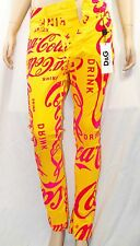 Dolce & Gabbana D&G sz 26 32x28 Pantalone 5 Tasche Jeans Coca Cola Women Pants