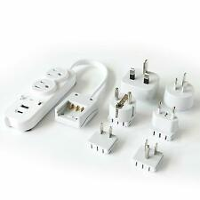 Ceptics Travel Power Strip - Grounded USB + Type C - 2 USA Outlets Input(PS-2U+)