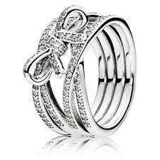 Original Pandora Ring Delicate Emotions 190995CZ Sterling Silver Women's Jewelry