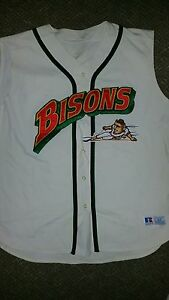 buffalo bisons game used jersey #60 size 54