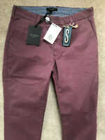 """TED BAKER PURPLE """"SLIMCHI"""" SLIM FIT TROUSERS PANTS CHINOS - 28"""" - NEW & TAGS"""
