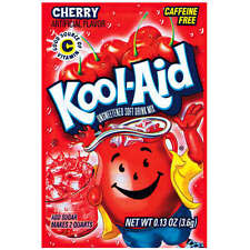 10 Packs Kool-Aid CHERRY Unsweetened Drink Mix Packets