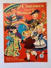 VINTAGE - Children 'round the World Paper Doll Book - Merrill 1955