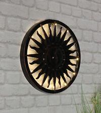 Solar Wand Deko Sonne - LED Wandbild Ø 40 cm - Solar Lampe Garten Terrasse