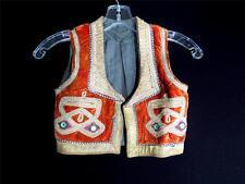 VERY RARE BOYS VINTAGE 1950'S TURKISH VELVET METALLIC TRIMMED VEST SIZE 4-5