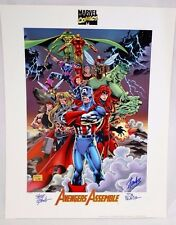 Stan Lee Signed Avengers Assemble Marvel Comics Heroes Lithograph Palmer Epting