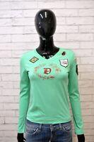 Maglia Canotta Top Donna DIESEL Taglia S Shirt Jersey Frau Cotone Hemd Verde