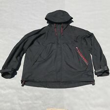 Vintage Ralph Lauren Polo Sport Mens Black Windbreaker lined Hooded Jacket