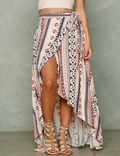 Women's Boho Tribal hippie Floral Skirt Maxi Summer Beach Long Casual Dress wrap