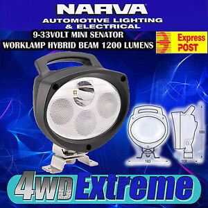 NARVA LED MINI SENATOR WORKLAMP HYBRID BEAM WORK CAMPING CARAVAN LIGHT 72469