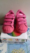 Girl's Adidas Originals Superstar PHARRELL WILLIAMS Pink Trainers Size UK5 EU 21
