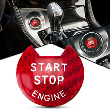 Red Carbon Fiber Keyless Engine Push Start Stop Button Cover For Nissan Infiniti