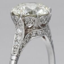 2.70ct Round Diamond Art Deco Engagement & Wedding Vintage 14k Certified WG Ring
