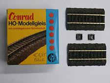 1/87ème HO : CONRAD 2 RAILS DROIT AVEC BALLAST DE 80,6 m/m - Référence 4003