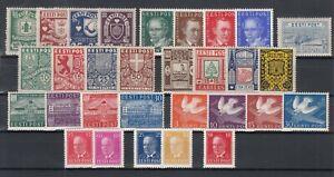 BW6868/ ESTONIA – 1937 / 1940 MINT MH SEMI MODERN LOT – CV 440 $