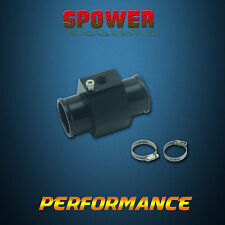 Universal Black 38MM Water Temperature Gauge Joint Pipe Radiator Sensor Adapter